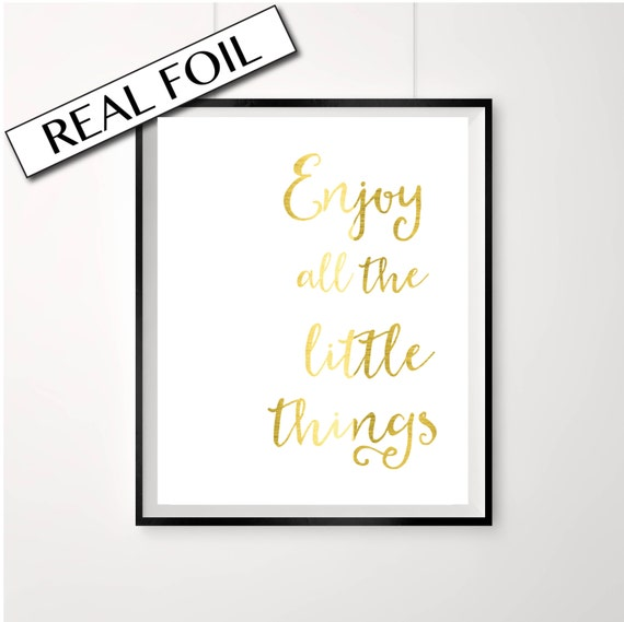 print love all the little things quote a4 picture UNFRAMEd