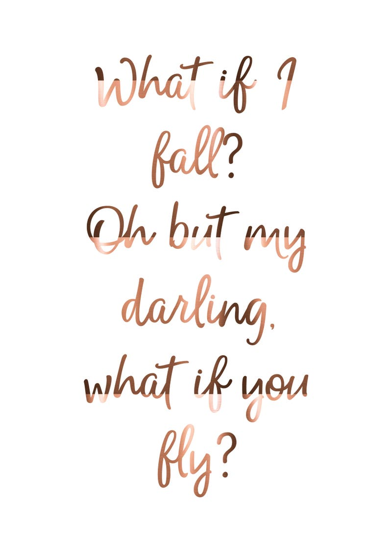 Copper Print Oh Darling What If I Fall Erin Hanson