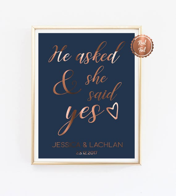 quotes he asked and she said yes engagement announcement