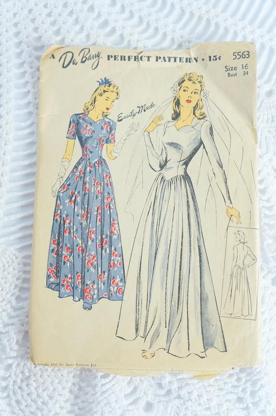 Jahrgang 1940 Du Barry perfekt Muster 5563 Nähen Muster-Damen | Etsy