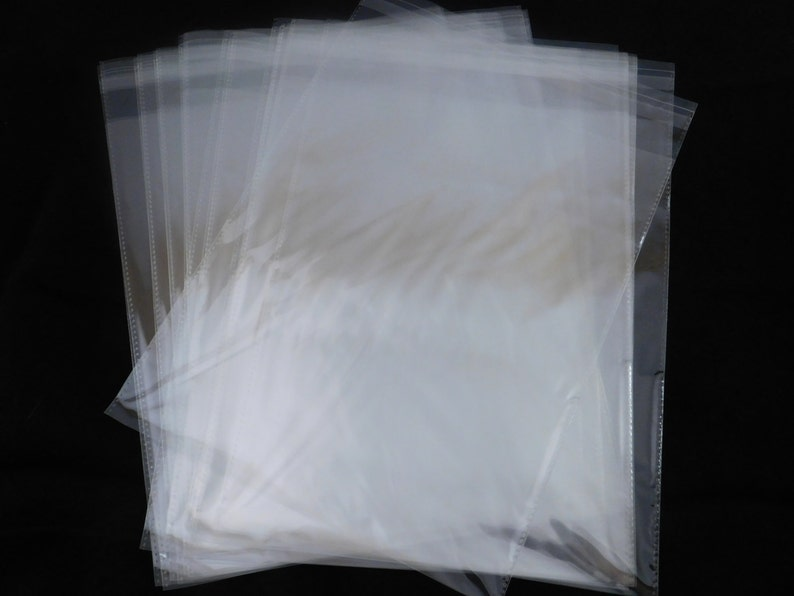 25 Crystal Clear Self 9x12 Seal Adhesive Poly Bags Shiny Water Resistant Lightweight