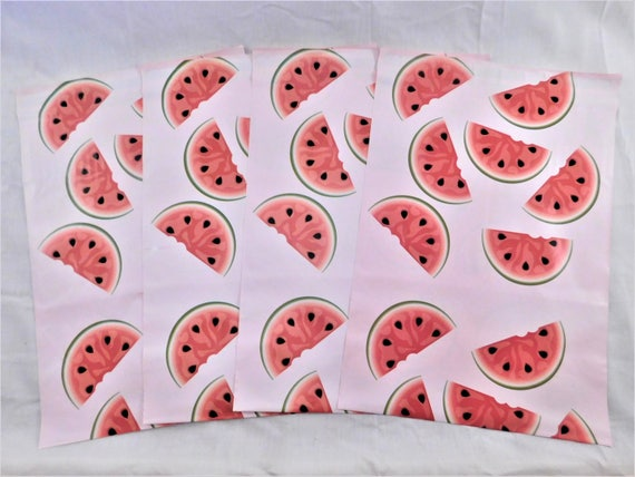 50 10x13 Designer WATERMELON Poly Mailers Self Seal Adhesive Plastic Flat Envelope Water Resistant Shipping Tear Proof Lightweight