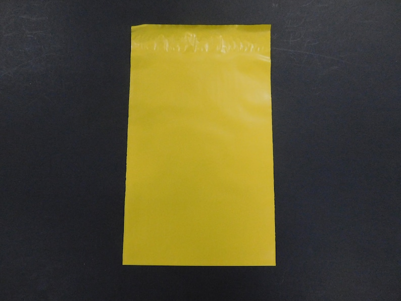 50 7.5x10.5 YELLOW Flat Poly Mailer Self Seal Adhesive Envelopes Shipping Supply Mailer Shiny Plastic Sturdy Lightweight