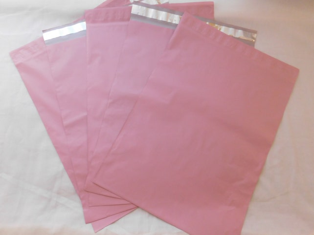 100 9x12 Pale Pink Poly Mailers Self Seal Adhesive Strip Plastic Flat Envelope Bags Waterproof Shipping Tear Proof Lightweight