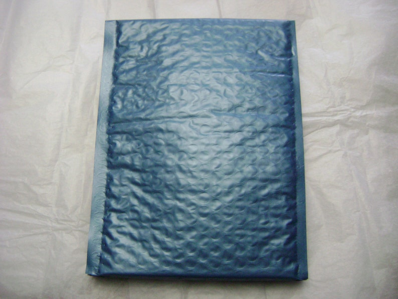 50 4x8 Steel Blue Bubble Mailer Self Seal Adhesive Envelope Protective Padded Wrap Shipping Supply Mailer Sturdy Lightweight 4x7 Inside