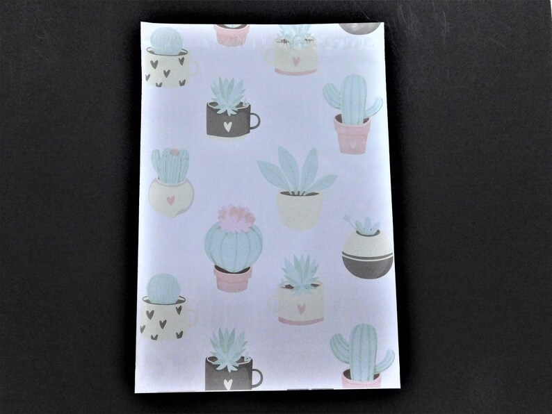 100 Designer POTTED CACTUS  10x13 Poly Mailers Self Seal Adhesive Plastic Flat Envelope Bag Shipping Tear Proof Lightweight Water Resistant