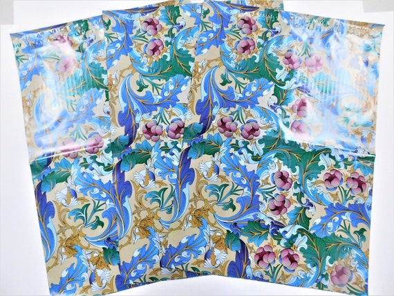 25 14.5x19 Designer Paisley Poly Mailers Self Seal Adhesive Plastic Flat Envelope Water Resistant Shipping Tear Proof Lightweight