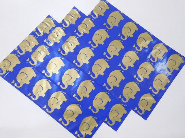 25 10x13 Designer Gold ELEPHANT Poly Mailers Self Seal Adhesive Plastic Flat Envelope Bags Shiny Waterproof Shipping Tear Proof Lightweight