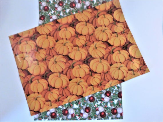50 10x13 Pumpkin Christmas Holiday Poly Mailers Set Self Seal Adhesive Plastic Flat Envelope Water Resistant Shipping Tear Proof Lightweight