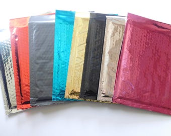 50 CHOOSE YOUR Metallic Bubble Mailer 6x10 Self Seal Adhesive Envelopes Protective Padded Wrap Shipping Supply Mailer Sturdy Lightweight