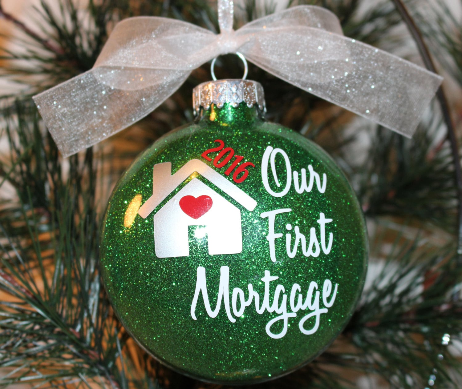 New Home Ornament First Home Christmas Ornament Glass   Etsy