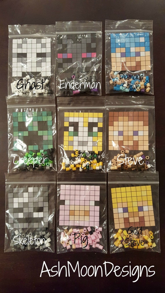 Diy Minecraft Perler Bead Kits New Designs Just Added Etsy