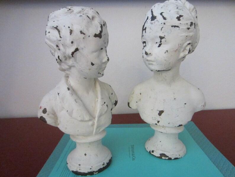 Statuen Bu00fcsten bemalt mu00e4nnlich weiblich klassische