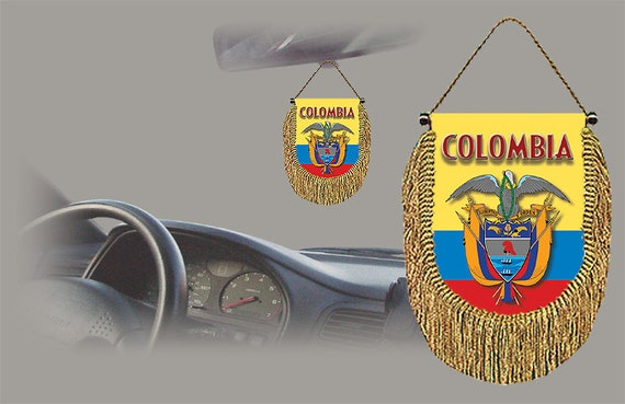Colombia Interior Rear View Mirror Car Automobile Flag Banner
