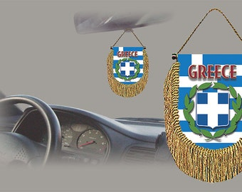 Greece rear view mirror world flag car banner pennant