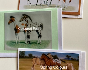 WESTERN COLOURS - 3 pack blank greeting cards with White Envelopes