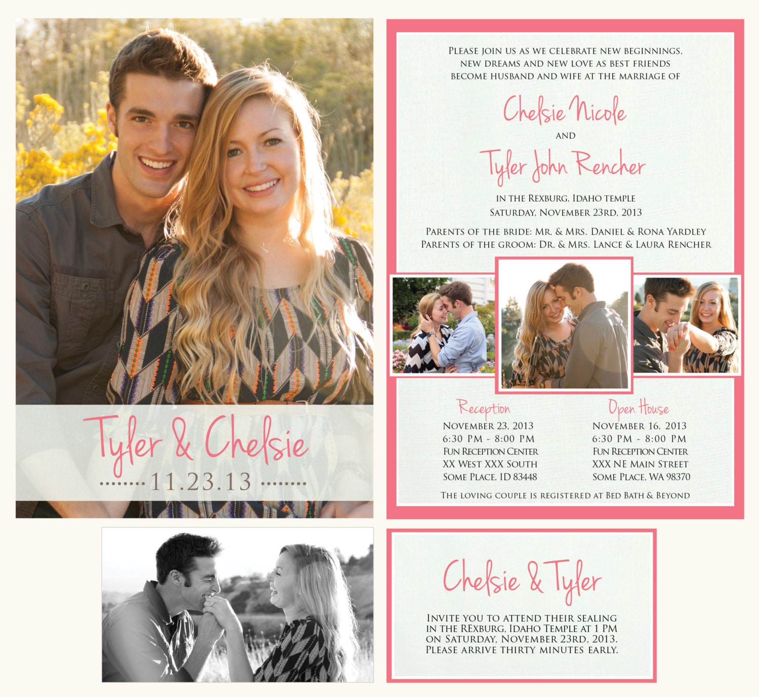 When Should Wedding Invitations Be Ordered: Printable Wedding Announcement LDS Mormon Wedding