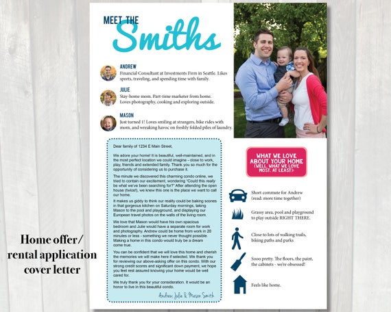 real estate offer cover letter