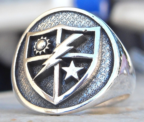 Heavy 3d Us Army 75th Ranger Regiment Ring Solid Sterling Etsy