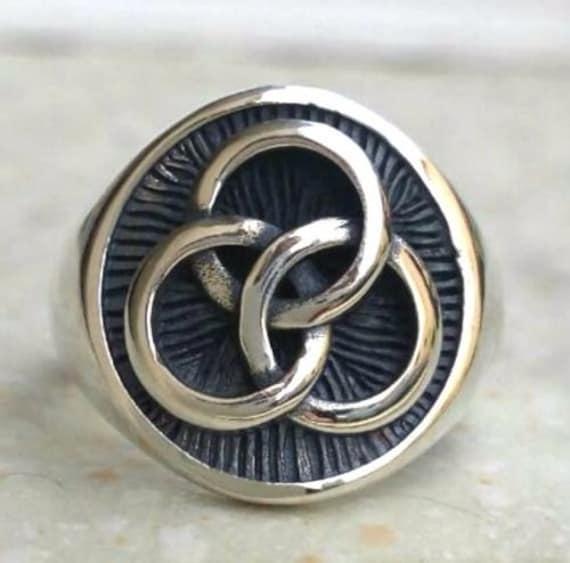 Led Zeppelin Drummer John Bonham Symbol 3d Ring Solid Sterling Etsy