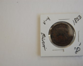 Large Cents-United States -1853-Circulated/Ungraded