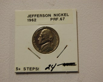 P /& D Jefferson nickels in BU AND PROOF condition 3 coins 1961 P
