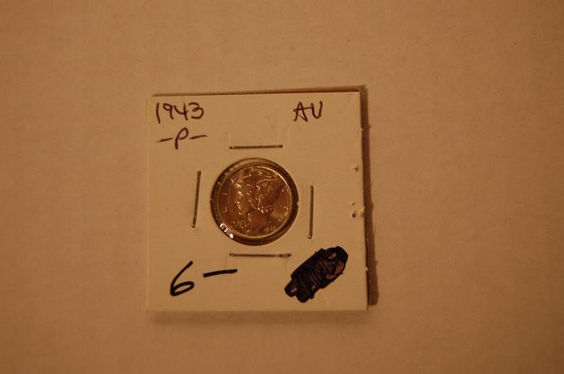1937-P MERCURY DIME CIRCULATED GRADE GOOD VERY GOOD 90/% SILVER COIN