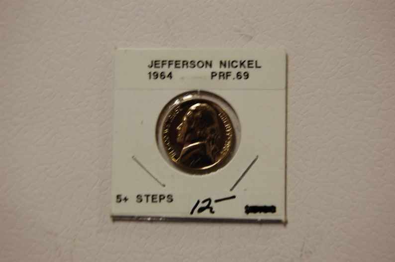 1944  Jefferson BU Nickel  Nice Coin from roll 1 coin free combined shipping