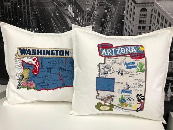 Arizona pillow- Custom Embroidery