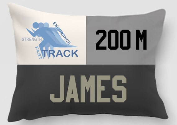 Track and Field-Embroidered and appliqued Personalized pillow-Handmade - Sports Gift -Team Gift