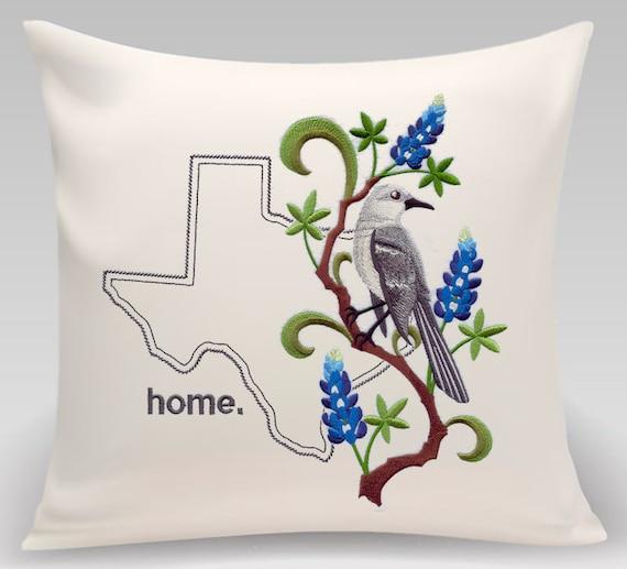 Texas pillow - Custom embroidery