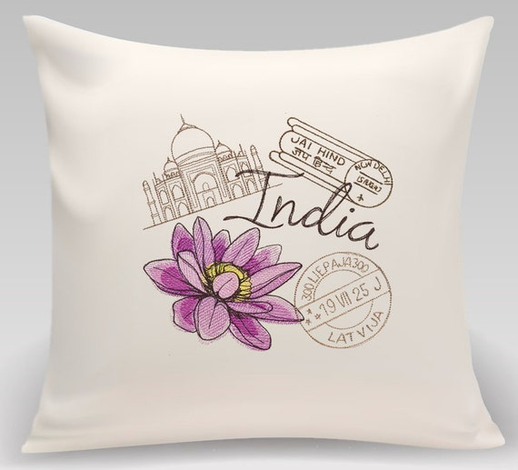 India - Embroidered decorative pillow - Home decor - Home and Living
