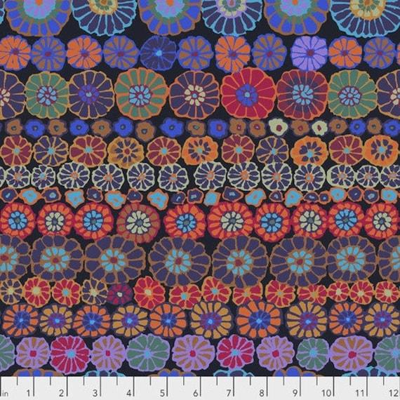 Row Flowers - Dark Kaffe Fassett for the Kaffe Fassett Collective. PWGP169.DARKX