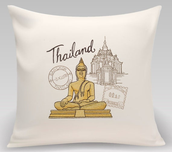 Thailand - Embroidered decorative pillow - Home decor - Home and Living