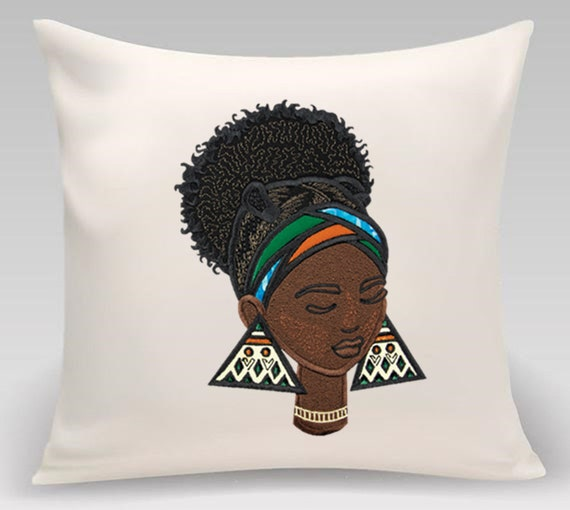 Home decor- decorative pillow- African woman - Gift for home - Contemporary decor
