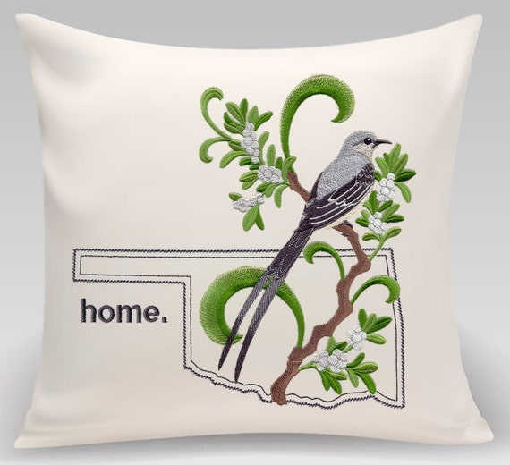 Oklahoma Pillow- Custom Embroidery