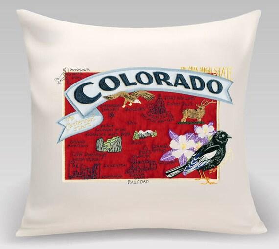 Colorado Pillow- Custom Embroidery