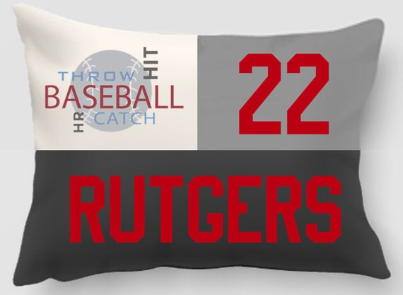 Baseball - Embroidered and Applique twill personalized sports pillow -Sports gift-Handmade pillow-Home decor-Dorm Decor