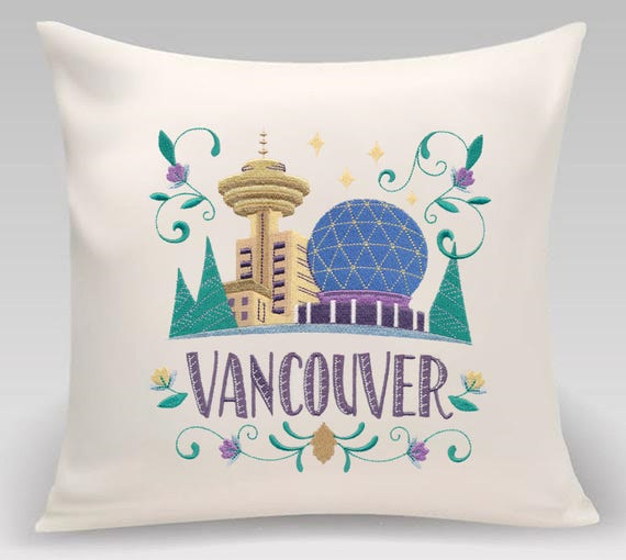 Vancouver - Embroidered decorative pillow - Home decor - Home and Living