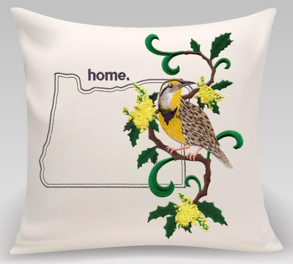 Oregon pillow - Custom Embroidery