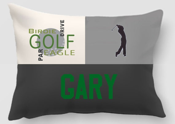 Golf-Embroidered and Applique twill personalized sports pillow -Sports gift-Gift for Dad -Handmade pillow-Home decor-Dorm Decor