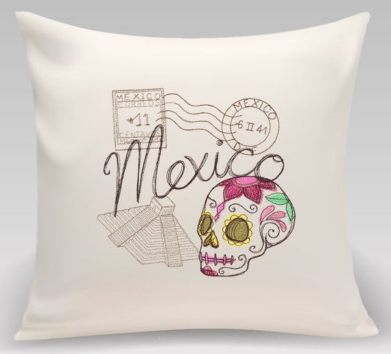 Mexico - Embroidered decorative pillow - Home decor- Home and Living