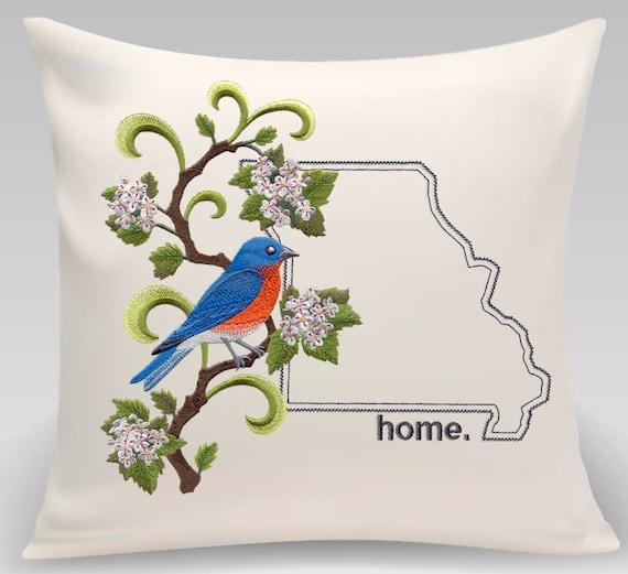 Missouri Pillow- Custom Embroidery