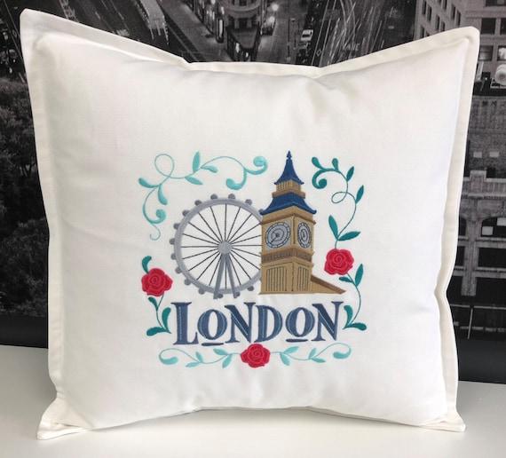 London Pillow - Custom Embroidery