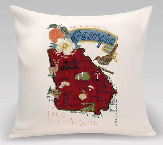 Georgia Pillow- Custom Embroidery