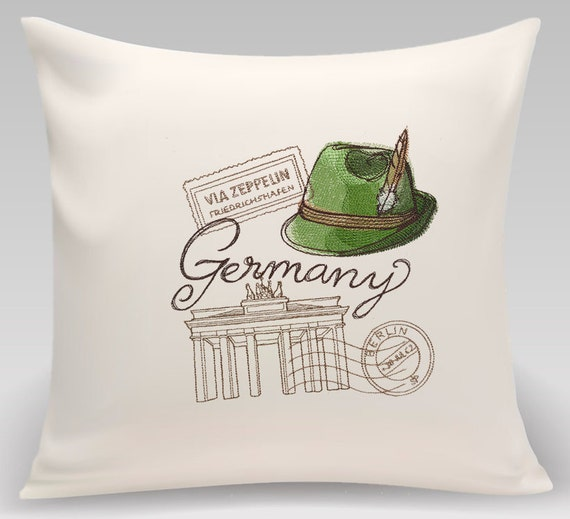 Germany - Embroidered decorative pillow - Home decor - Home and Living