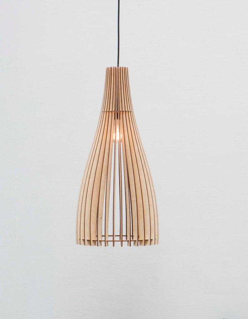 Esszimmer Hangelampe Holz