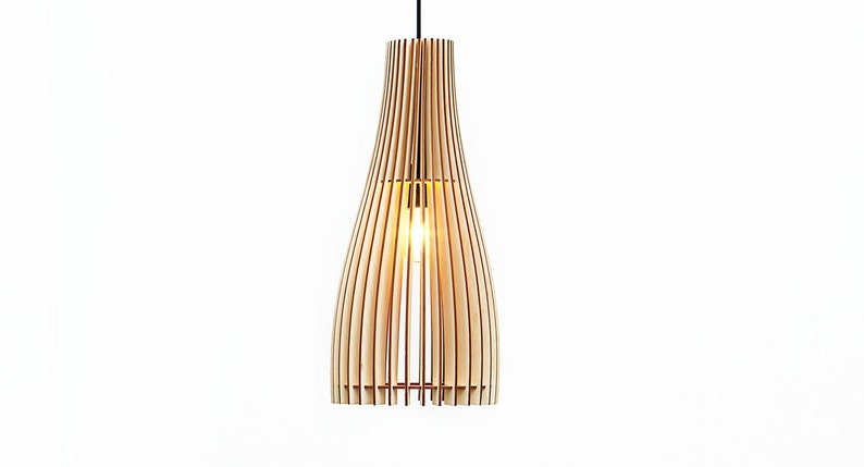 Eetkamer Lamp Design : Already assembled wooden lamp wood lamp pendant lights etsy