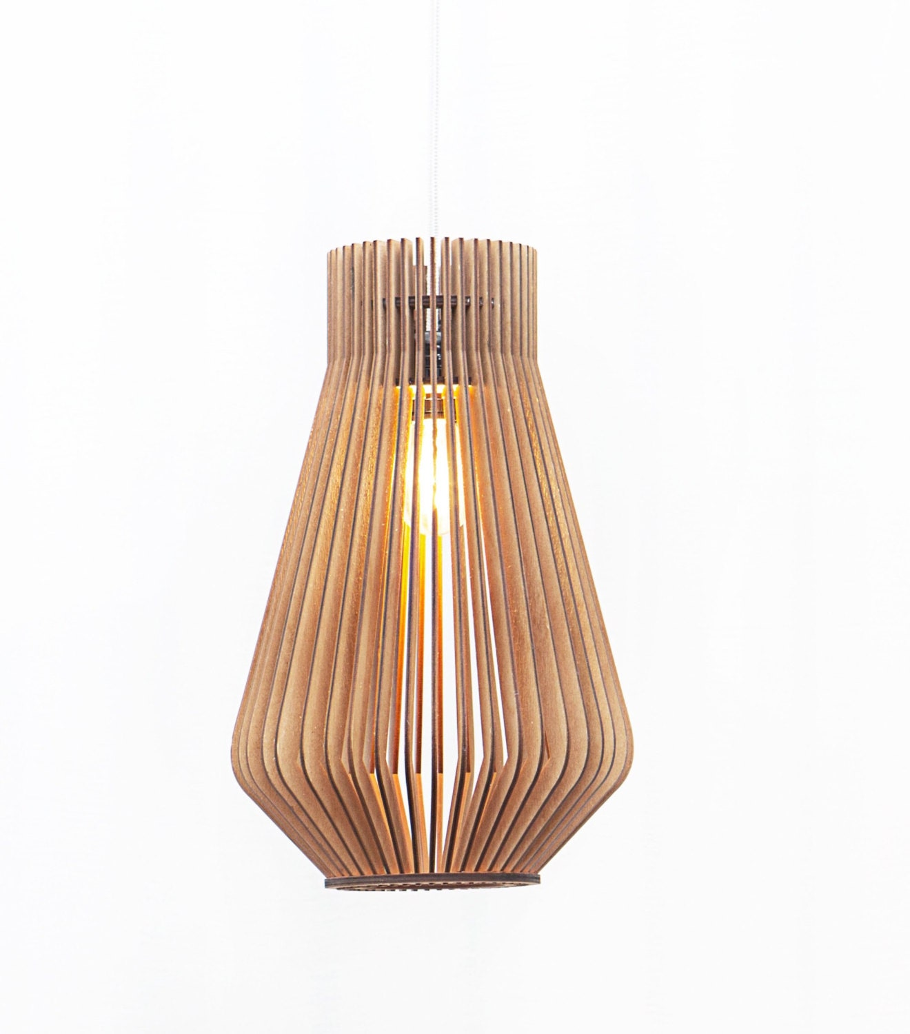 Hanging Lamp Design: Scandinavian Style Wooden Hanging Lamp / Lighting / Design