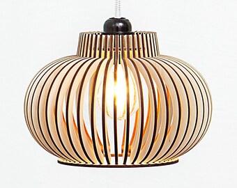 Wooden lamp / lamp / ceiling lamp / pendant lamp / lighting / light / set of lamps / set of three lamps